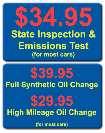 oilchanges and inspection